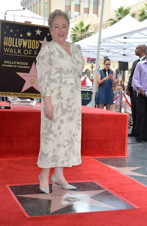 Kathy Bates. LOS ANGELES, CA. September 20, 2016: Kathy Bates at the Hollywood Walk of Fame star ceremony honoring actress Kathy Bates stock photos
