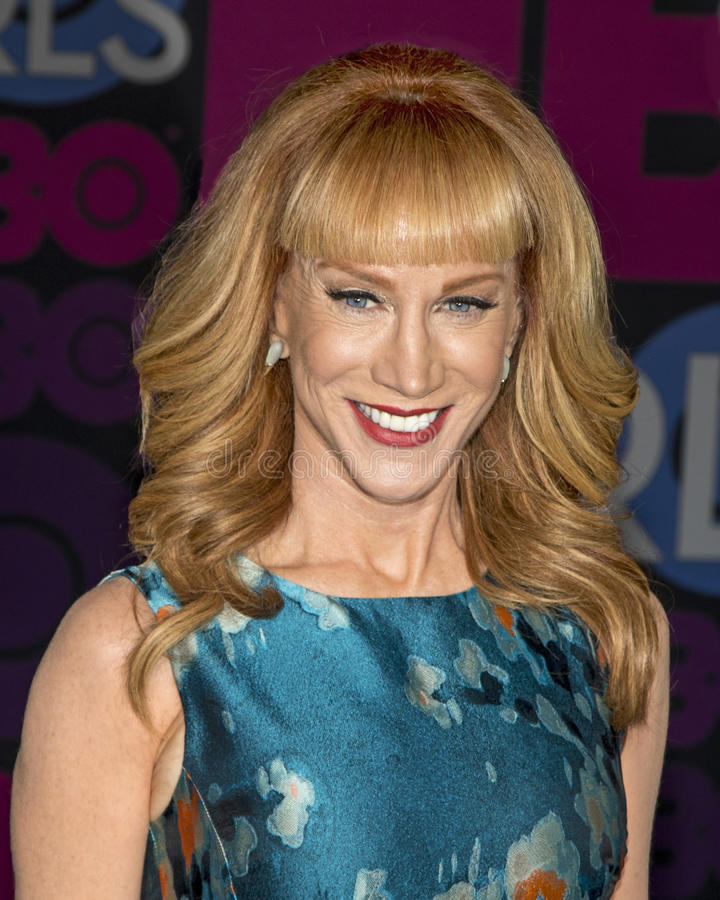 Kathy Griffin. Comedian Kathy Griffin arrives on the red carpet for the New York premiere of Season 4 of HBO premium cable televisions Emmy-winning hit comedy stock images