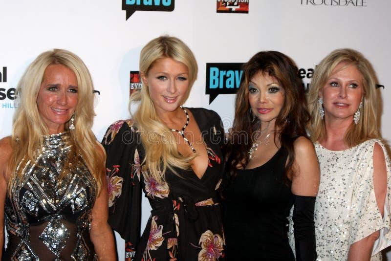 Kathy Hilton, Kim Richards, La Toya Jackson, LaToya Jackson, Parijs Hilton, Toya, Jacksons royalty-vrije stock foto