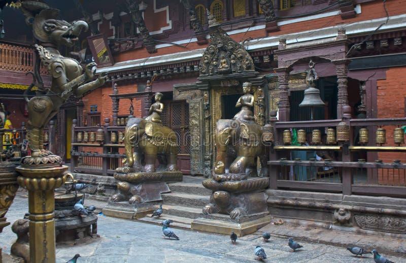 Katiandu Nepal Patan foto de archivo