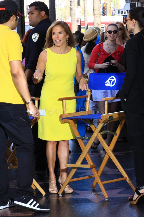 Katie Couric i Hollywood arkivfoto