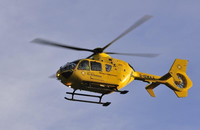 Katie, de Ziekenwagen van de Lucht van het Noordwesten, Engeland stock fotografie