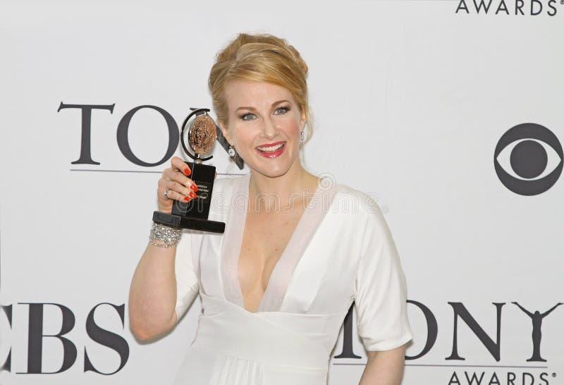 Katie Finneran Wins em 64th Tony Awards em 2010 imagens de stock