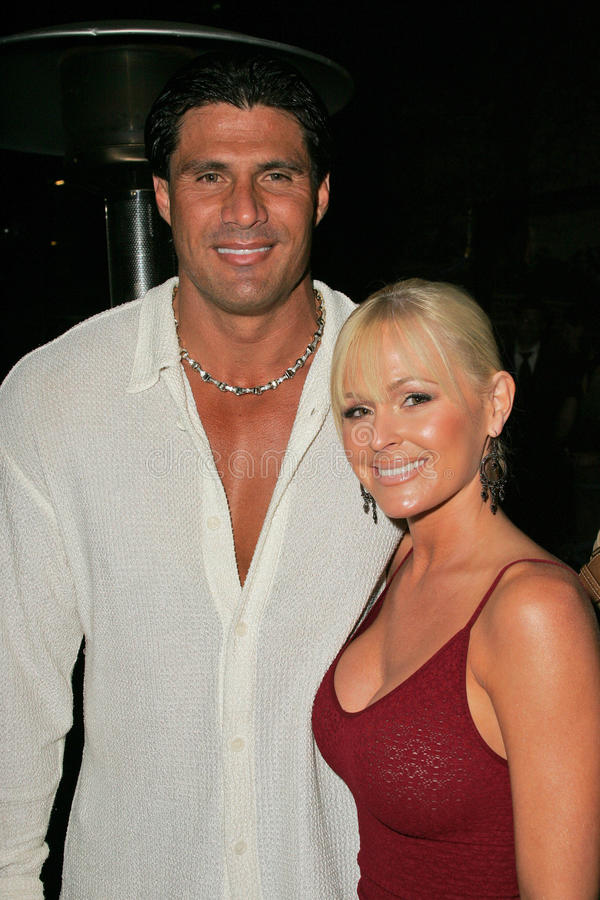Katie Lohmann,Jose Canseco stock photography