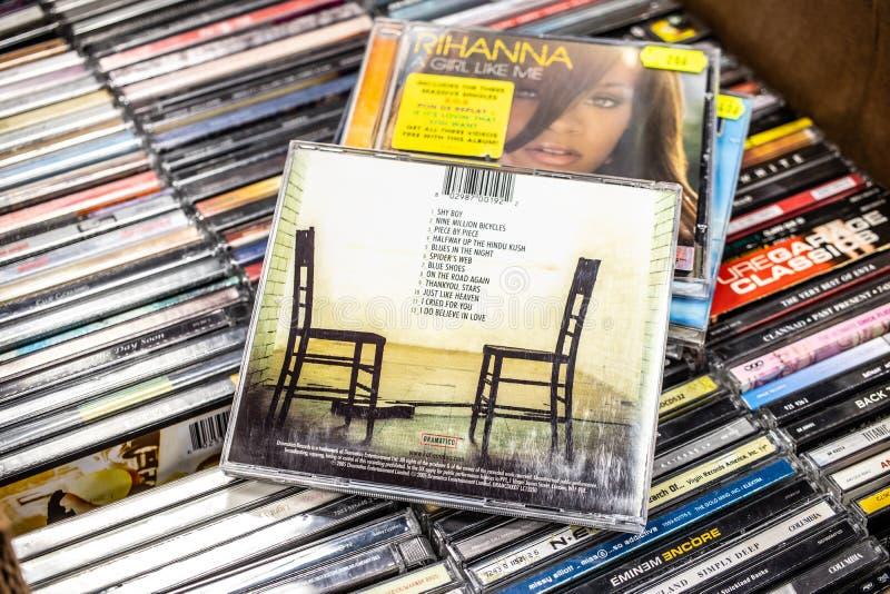 Katie Melua-CD album stuk voor stuk 2005 op vertoning voor verkoop, beroemde Brits-Georgische zanger en songwriter stock foto's