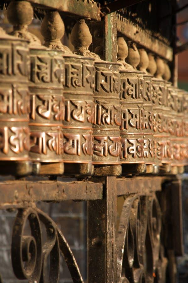 katmandu modlitewni kół obraz stock