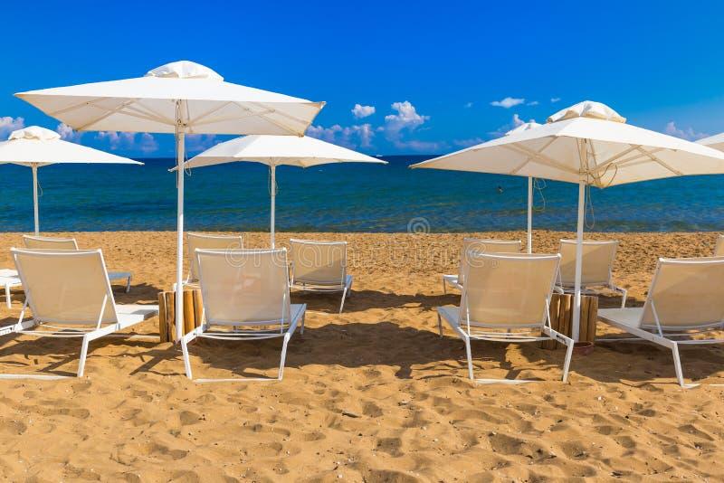 Kato Stalos-Strand, Chania-Präfektur, West-Kreta, Griechenland lizenzfreies stockbild