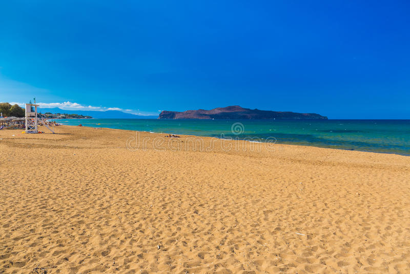 Kato Stalos-Strand, Chania-Präfektur, West-Kreta, Griechenland stockfoto