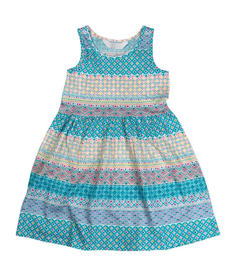 Katoenen babykleding met een patroon isoleer royalty-vrije stock afbeelding