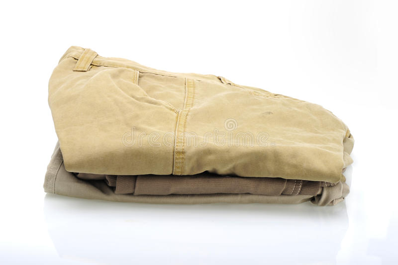 Katoenen broek stock foto