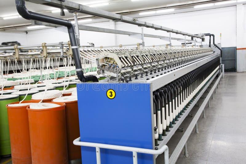Katoenen garen productie royalty-vrije stock afbeeldingen