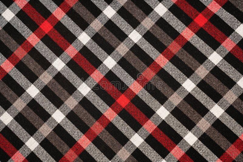 Katoenen van de geruit Schots wollen stofplaid natuurlijke stof Naadloze tegelstextuur voor de achtergrond stock afbeelding