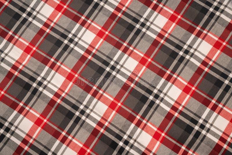 Katoenen van de geruit Schots wollen stofplaid natuurlijke stof Naadloze tegelstextuur voor de achtergrond royalty-vrije stock fotografie