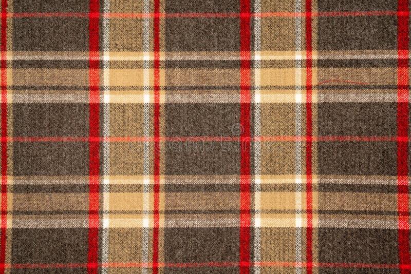 Katoenen van de geruit Schots wollen stofplaid natuurlijke stof Naadloze tegelstextuur voor de achtergrond stock foto's