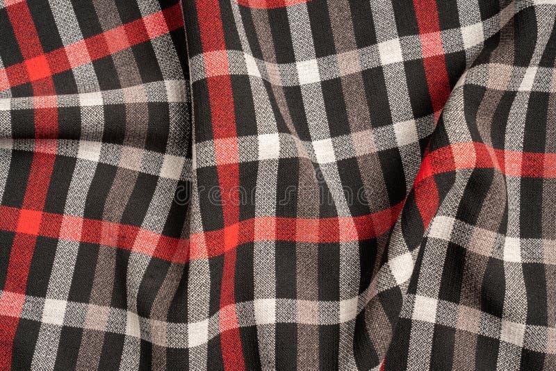 Katoenen van de geruit Schots wollen stofplaid natuurlijke stof Naadloze tegelstextuur voor de achtergrond stock foto