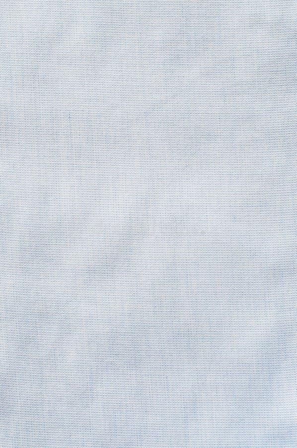 Katoenen van de stoffentextuur witte en blauwe kleur stock foto's