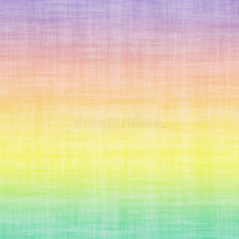 Katoenen van het de Gradiëntlinnen van pastelkleur de Multi Gekleurde Ombre Minimale Abstracte Kleurrijke Achtergrond van Grunge royalty-vrije illustratie