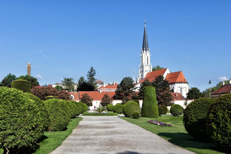 Katolicki farny kościół Maria Hietzing w Wiedeń Przy pierwszy Turki obraz royalty free