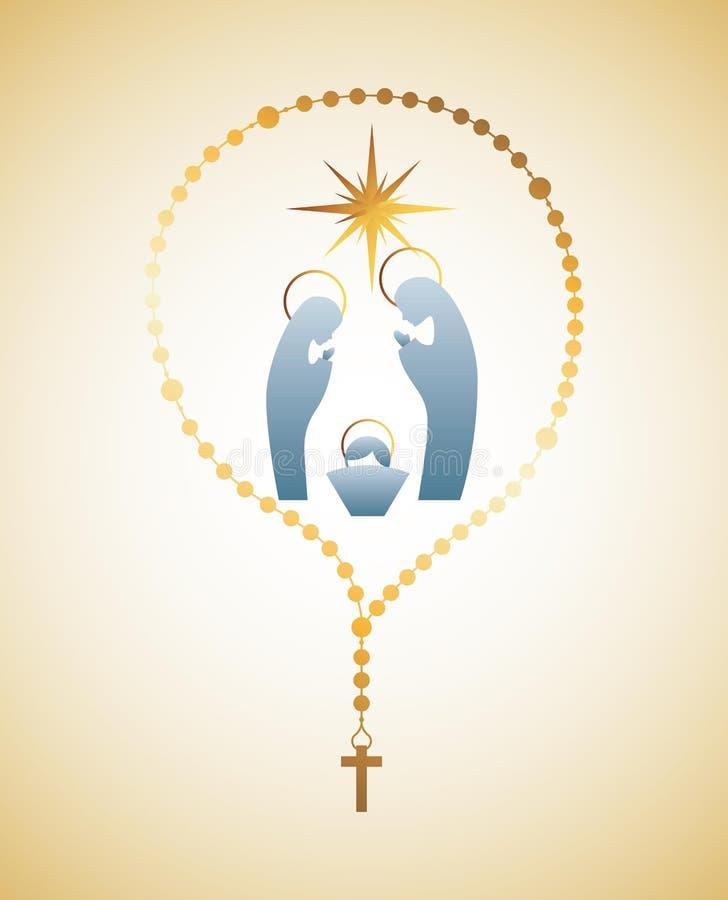 Katolicki projekt royalty ilustracja
