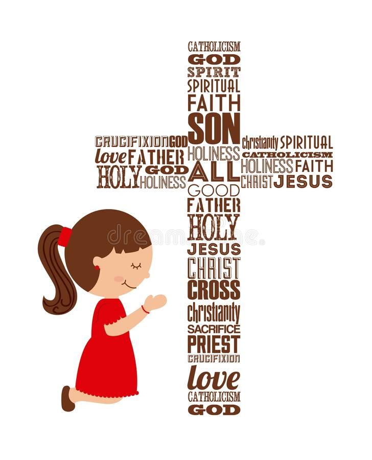 Katolicki religia projekt royalty ilustracja