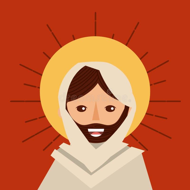 Katolik för framsidajesus christ klosterbroder vektor illustrationer