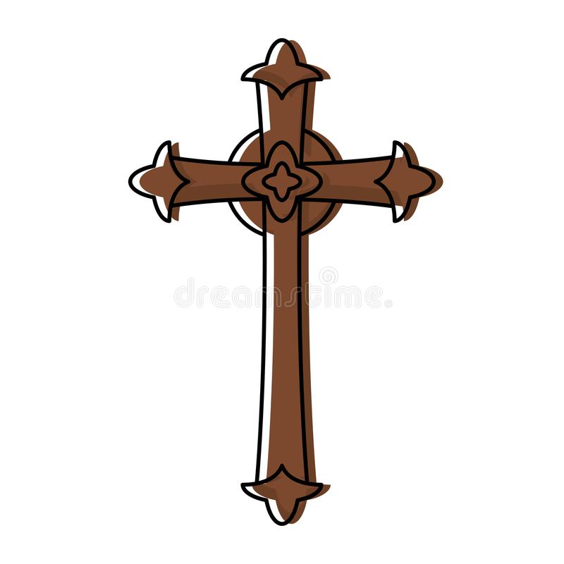 Katolika krzyża projekt ilustracja wektor