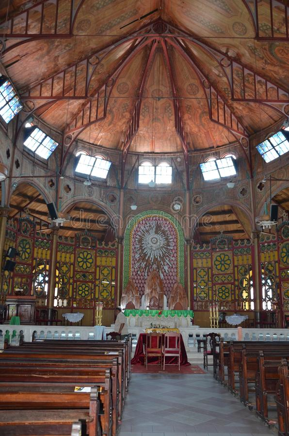 Katolsk domkyrka i Castries, St Lucia royaltyfri bild