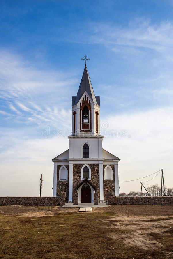 Katolsk kyrka av helig Treenighet, Germanishki royaltyfri foto