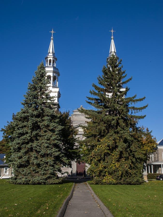 Katolsk kyrka av Montreal arkivbilder