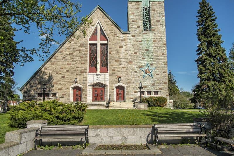 Katolsk kyrka av Montreal fotografering för bildbyråer
