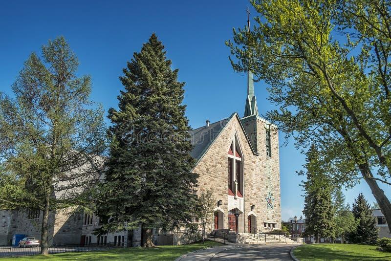Katolsk kyrka av Montreal royaltyfri bild