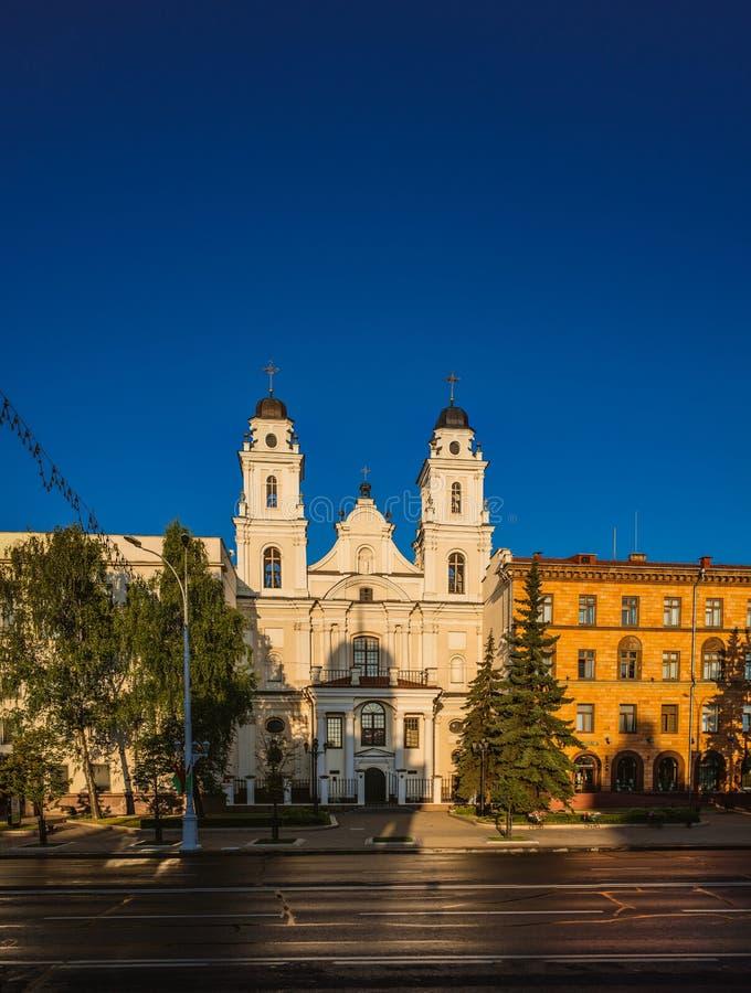 Katolsk kyrka av välsignade jungfruliga Mary, Minsk, Vitryssland royaltyfri bild