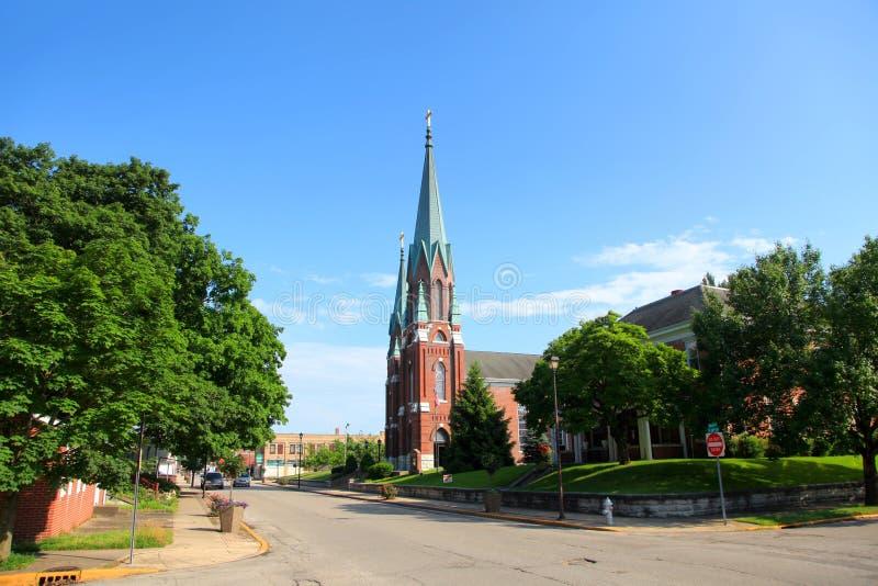 Katolsk kyrka för St John ` s i Vincennes, Indiana royaltyfria foton