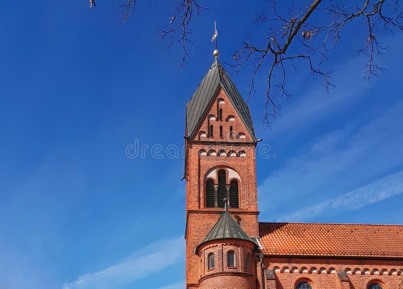 Katolsk kyrka i den Bremen Tyskland royaltyfri bild