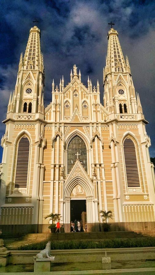 Katolsk kyrka i den Vità ³riaen, ES - Brasilien royaltyfria bilder