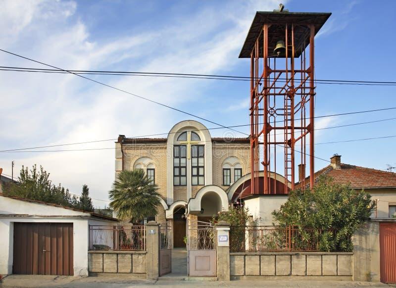 Katolsk kyrka i Gevgelija macedonia royaltyfria foton