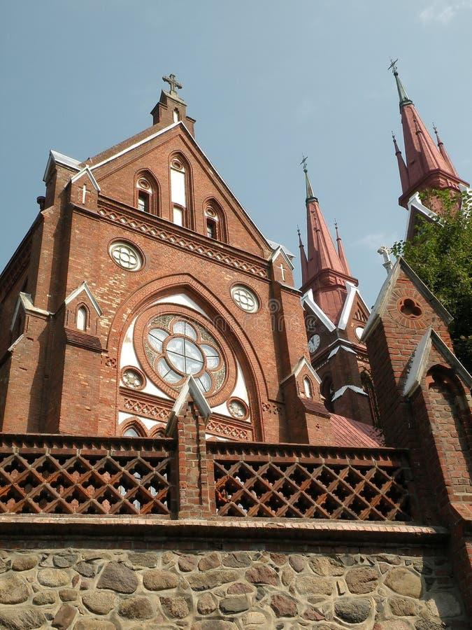 katolsk kyrka lithuania royaltyfri foto
