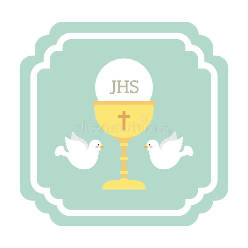 Katolsk religion royaltyfri illustrationer