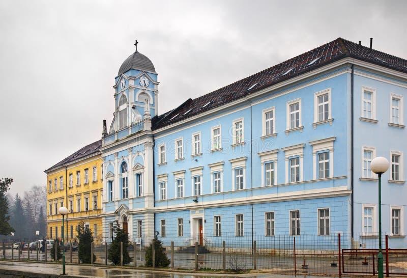 Katolsk utbildningsmitt i Travnik stämma överens områdesområden som Bosnien gemet färgade greyed herzegovina inkluderar viktigt,  fotografering för bildbyråer