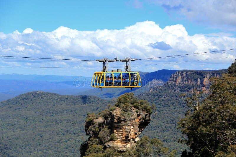 Katomba in den blauen Bergen Nationalpark, Australien lizenzfreie stockbilder