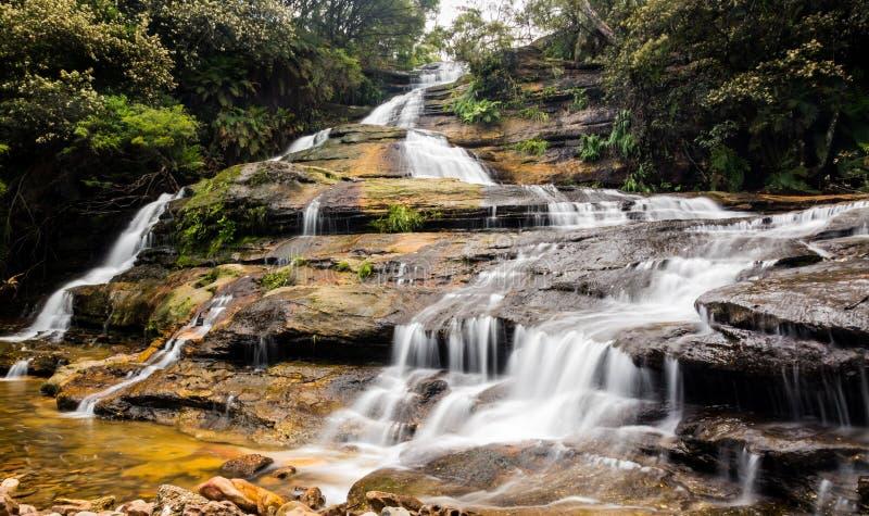 Katoomba cade in montagne blu Australia fotografia stock