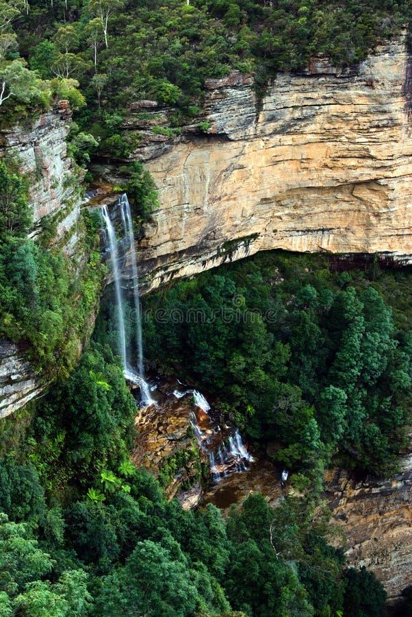 Katoomba cai no parque nacional NSW das montanhas azuis imagem de stock