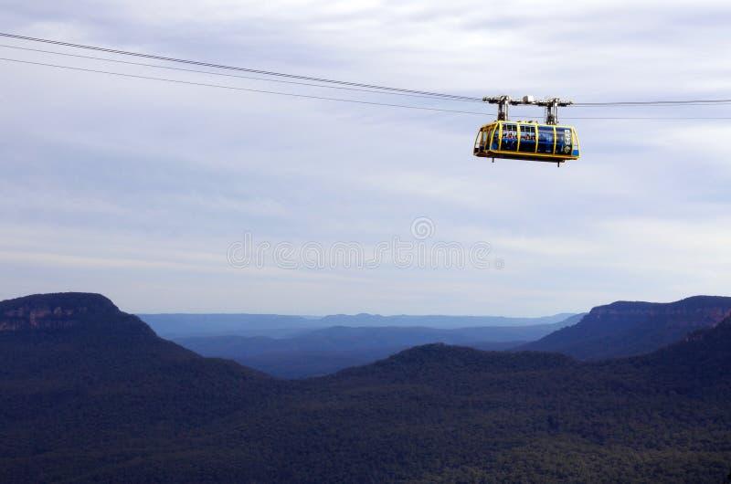 Katoomba Sceniczny Skyway podróżuje przez wąwóz nad Katoom zdjęcia stock