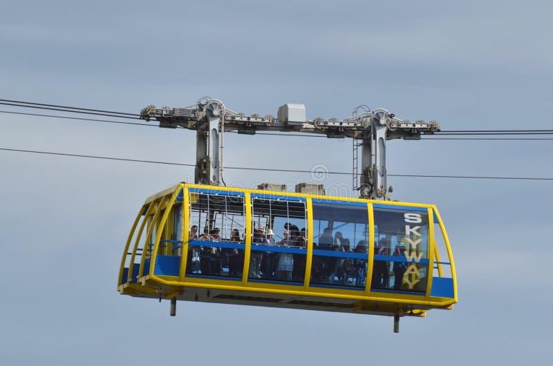 Katoomba Skyway scénique voyage à travers la gorge au-dessus du Katoom images stock