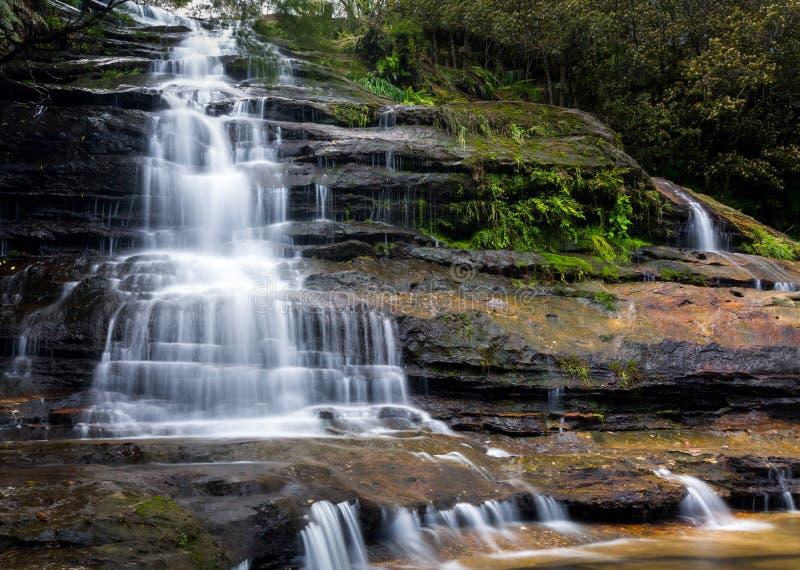 Katoomba Spada w Błękitnych górach Australia fotografia stock