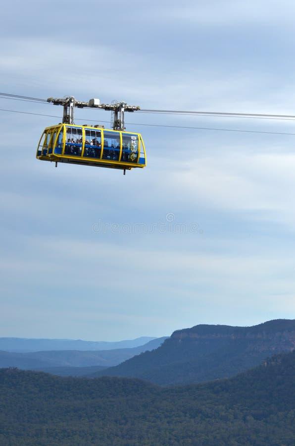 Katoomba szenisches Skyway reist über die Schlucht über dem Katoom stockbilder