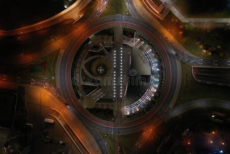 Katowice en la noche foto de archivo