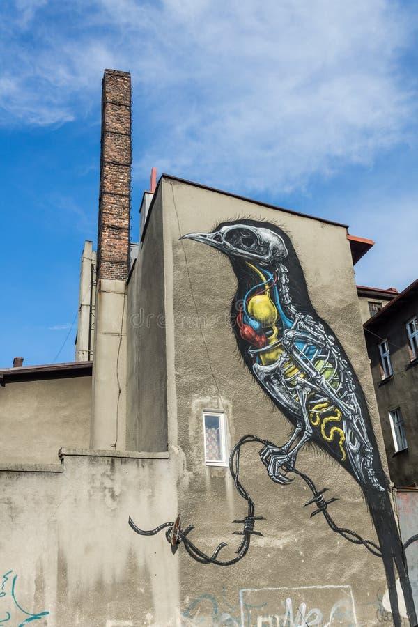 Katowice gata Art Festival arkivfoton