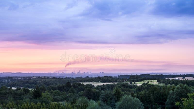Katowice-Gießereipanorama stockfotografie