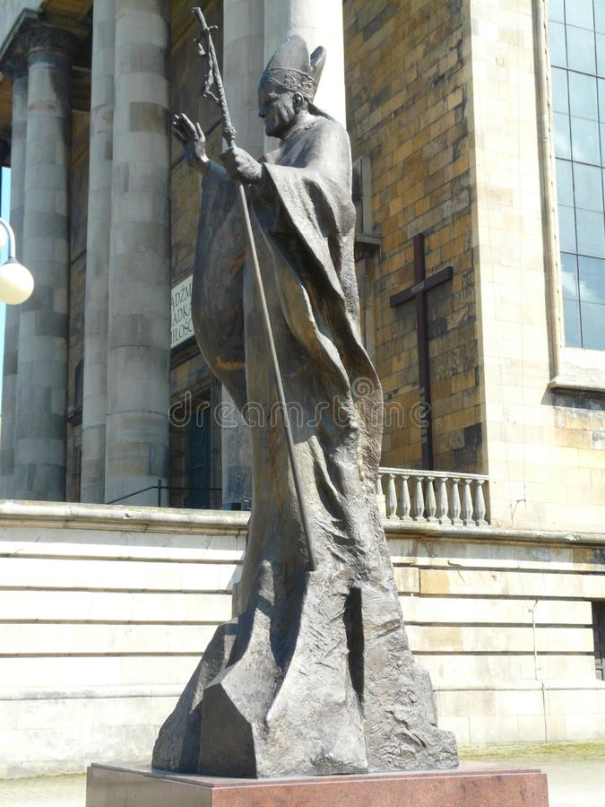 Katowice-monumento de John Paul II, Silesia-Polonia fotos de archivo libres de regalías